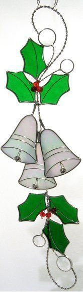 Stain Glass Christmas Bells Scroll