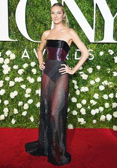 WHO: Candice Swanepoel WEAR: Prabal Gurung dress
