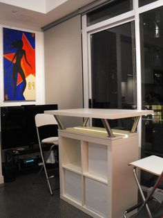 Ikea Standing Desk Expedit Mobile Island Intended Decorating Ideas