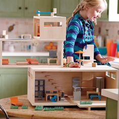 Girls Dollhouse: Modern Dollhouse and Furniture Set in $300+ | The Land of Nod