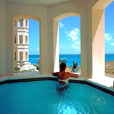 Private plunge pool. The Crane Resort. Barbados. The pool is attached to the condo lanai.