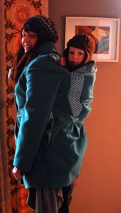 convert coat into back carry baby wearing coat- I am SO making this!