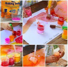 Erupting Baking Soda Paint!