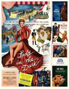 Ginger Rogers stars in 1944's Lady in the Dark. #vintage #1940s #movies