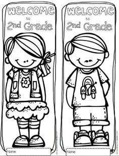 FREE Welcome to Any Grade {Pre-K through 6th Grade} Coloring Sheets...perfect for the first day of school.