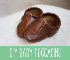 DIY Leather Baby Moccasins Pattern