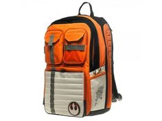 Star Wars R2-D2, stormtrooper and rebel pilot backpacks. Wish they had these when I was in school.