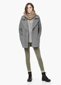 Abrigo bouclé lana 49,99€