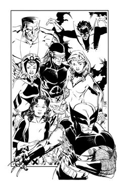 The Magnificent X-Seven by Paul Smith  [will always be the BEST X-team ever]