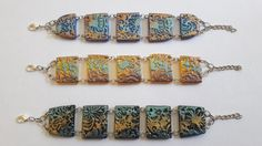 bracelets polymer clay and pigments di FimosFlowers su Etsy