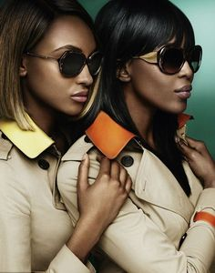 Jourdan Dunn and Naomi Campbell for Burberry SS15 | Fashion Design Weeks