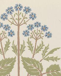 Tapet Meadow Sweet Cornflower/Leaf från William Morris & Co