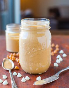 Homemade Honey Roasted Butterscotch White Chocolate Peanut Butter ~ great recipe and tutorial from averiecooks.com