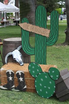 Photo opp at a western cowboy party! See more party planning ideas at CatchMyParty.com!