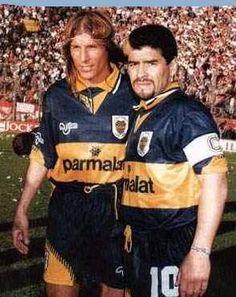Claudio Caniggia, Diego Maradona, Boca Juniors. White trash