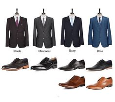 Picking Black shoes to go along with black suit is easy, but how does a man wearing a navy, light-grey, or brown suit match his shoes with the…