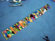long mosaic panel before grout 2012. Inspired by a gorgeous mosaic panel by Sucre, a fellow flicker artist.