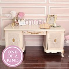 images of shabby chic offices | SHABBY CHIC / Vintage Ornate French Style Cream and Gold Office ...