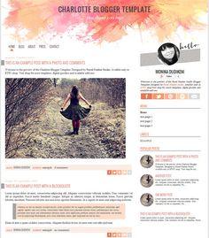 Charlotte Blogger Template by Pastel by PastelFeatherStudio, zł100.00