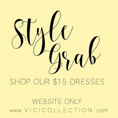 A $15 surprise dress! We will choose from a variety of maxis, shift dresses and date night looks!Select your size and our stylists will do our best to pick the
