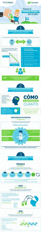 Técnicas de productividad para tu pyme vía @Movistar_es #infografia #infographic #productividad