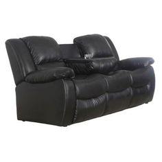 Venetian Worldwide Clarksville Recliner Sofa In Black Leatherette S6001 S    The Home Depot