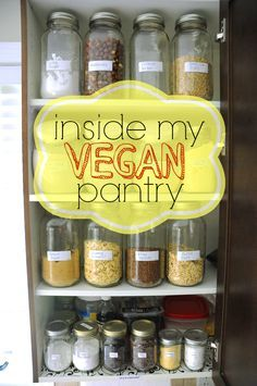 Inside My Vegan Pantry - Ever wonder what vegans keep in their cupboards? This post will show you exactly what you can expect to find in my vegan pantry at all times!