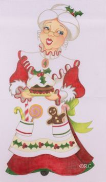 Mrs Claus painted canvas by Raymond Crawford Designs Size: tall Mesh Count: 18 Christmas Signs, Christmas Elf, Christmas Pictures, Christmas Projects, Vintage Christmas, Christmas Ornament, Christmas Ideas, Christmas Paintings On Canvas, Happy Birthday Messages
