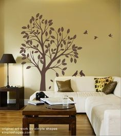 Super close to the tree decal I am looking for for Baby Girl's room-not quite dark enough but close.