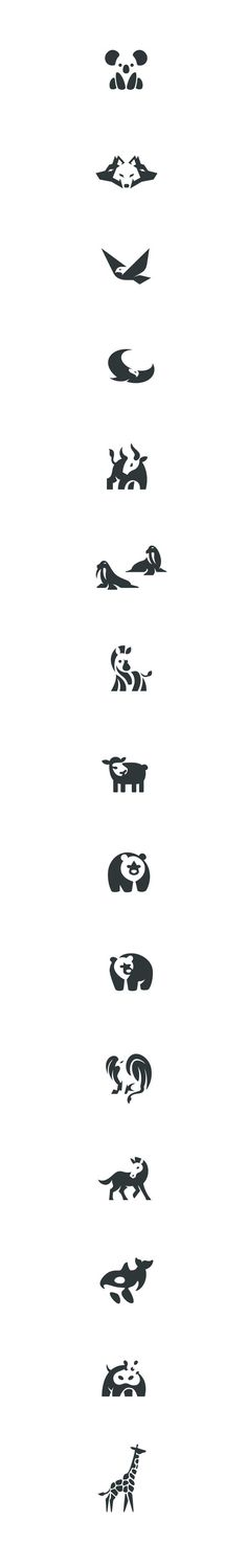 Negative space animals pt.3 #negative #space #logo #animals #marks #design…: