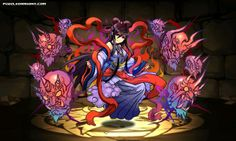 Yomi Mistress, Izanami stats, skills, evolution, location | Puzzle & Dragons Database