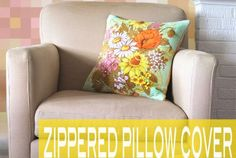 How To Sew an Easy Zippered Pillow Cover