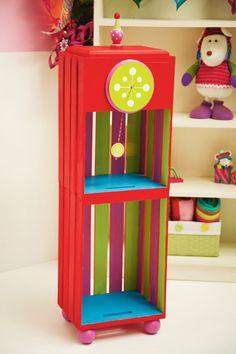 Jingle & Jolly Crate Clock #holiday #gift