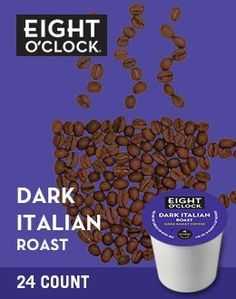 Eight O'Clock Coffee Dark Italian Roast K-Cups - 120 Count Box