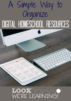 Simple Way to Organize Digital Homeschool Resources - Keep your materials organized right on your computer! Homeschool Curriculum, Homeschooling Resources, School Resources, Printable Math Worksheets, Printables, Classroom Organization, Learning Organization, Home Schooling, Lesson Plans