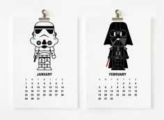 For the Star Wars fan | 17 Coolest Calendars For 2017