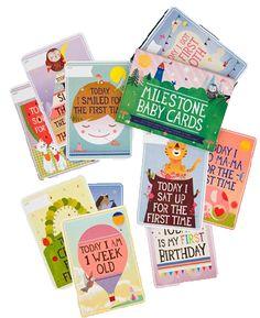 Milestone Baby Cards: om het eerste jaar van je/de baby op een originele manier vast te leggen | juffrouwzonderzorgen.nl