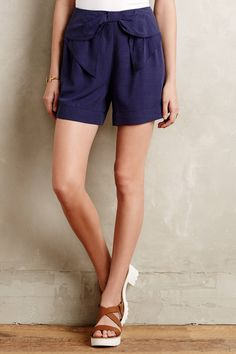 Bowtie High-Rise Shorts - anthropologie.com