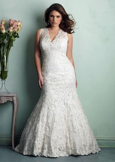 Dress style W340 by Allure Bridals.