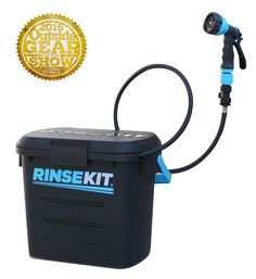 The only product of its kind, RinseKit is a pressurized, portable shower that's like having a hose to go! With no pumping and no batteries, RinseKit delivers a