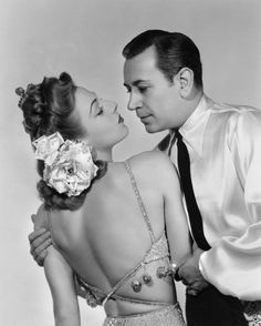 """George Raft, Vera Zorina in """"Follow the Boys"""" (1944) Country: United States. Director: A. Edward Sutherland."""