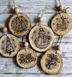 birch wood christmas craft projects - Google Search