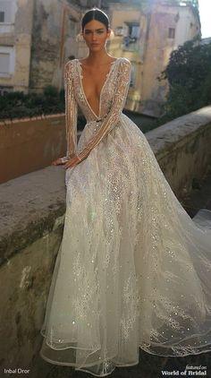 Inbal Dror 2019 Wedding Dresses – World of Bridal 2019 – Sommer Hochzeit Trend 2019 Sexy Wedding Dresses, Bridal Dresses, Bridesmaid Dresses, Dresses Dresses, Inbal Dror Wedding Dress, Lace Wedding, Dramatic Wedding Dresses, Beaded Wedding Dresses, Berta Bridal