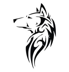 Tribal wolf head vector 1891932 - by VectoryOne on VectorStock®