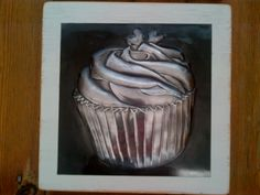 Pewter Cupcake by Nicole Roxburgh