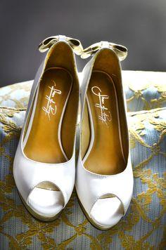 Wedding shoes.   Elizabeth & David's wedding.   Steven Josty Photography. www.sjostyphotography.co.uk