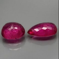 Hot Pink Not Checkerboard Cut Tourmaline Oval And by SilverFound, $11.75