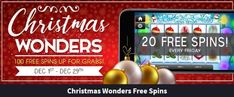 We all love Fridays and at Vegas Crest Casino the holiday season is full of joyful Christmas treats as the Christmas Wonders Free Spins