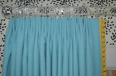 Turquoise Curtains with Yellow Pom Pom Border