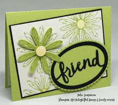 handmade cards, daisy delight paper, stampin up Daisy Delight Stampin' Up, Stamping Up Cards, Pretty Cards, Card Sketches, Flower Cards, Cool Cards, Creative Cards, Greeting Cards Handmade, Scrapbook Cards